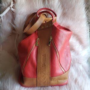 Valentina- Red Orange-Convertible Sling Backpack/
